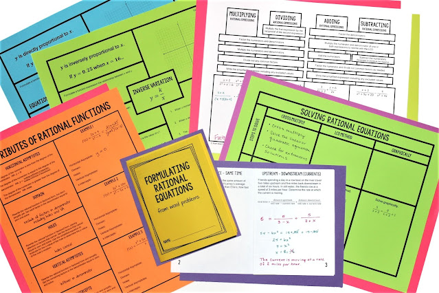 Texas Algebra 2 Concept Organizers
