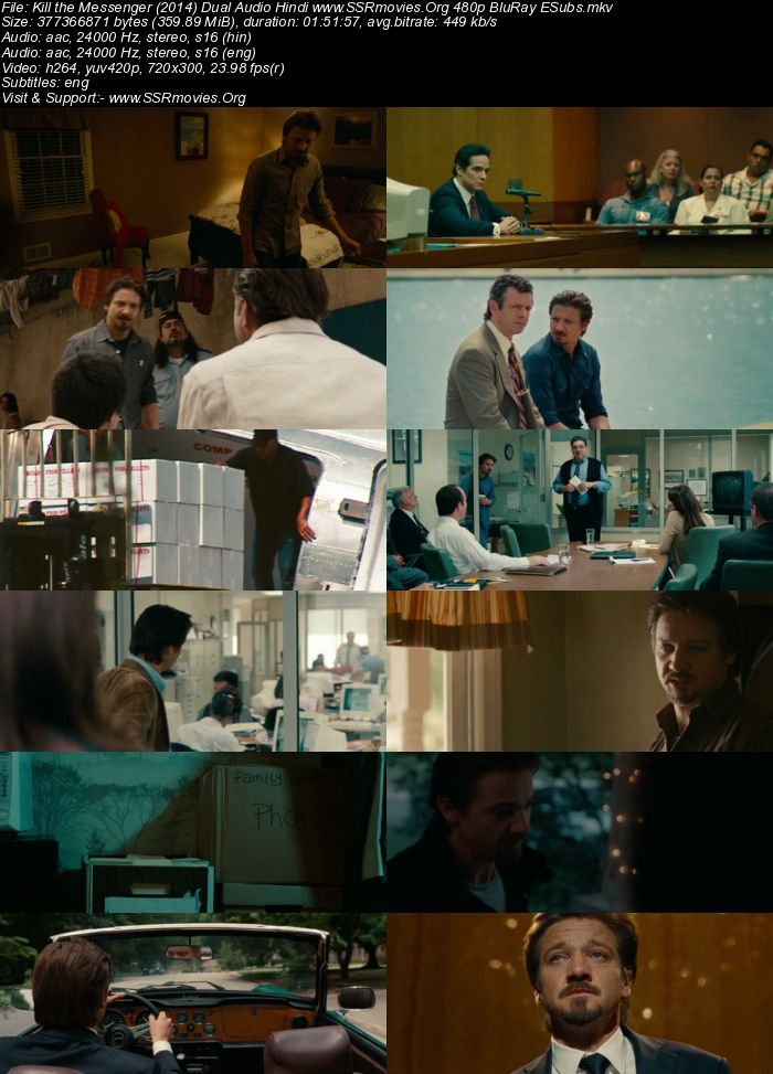 Kill the Messenger (2014) Dual Audio Hindi 480p BluRay 300MB