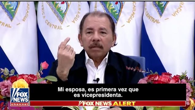 El dictador nicaragüense habló por primera vez con un medio norteamericano / CAPTURA FOX NEWS