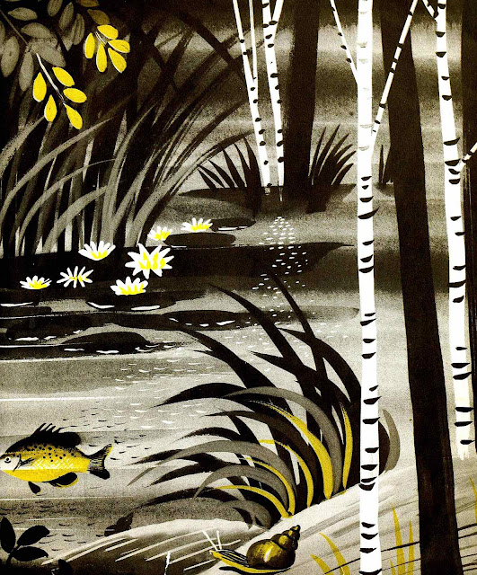 a Leonard Weisgard illustration of marsh wetlands