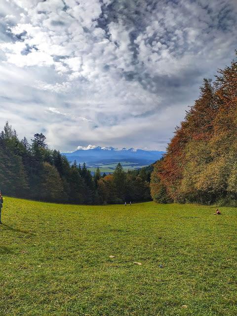Widok na Tatry z Pienin, panorama gór, Polska