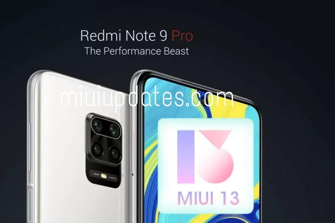 Redmi Note 9 Pro MIUI 13 features