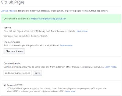 Cara Menggunakan Subdomain Sendiri di Github Pages