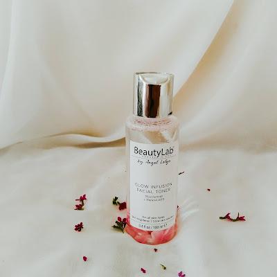 beauty lab glow infusion facial toner dengan rose petal