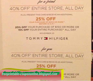 photograph about Tommy Hilfiger Coupon Printable referred to as Tommy discount coupons printable 2018 / Staples discount coupons for printing