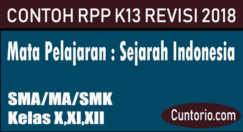 RPP K13 Sejarah Indonesia Revisi 2018 SMA / MA / SMK