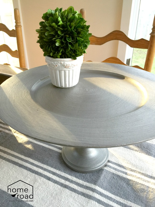 How to Create a Pedestal Dish from Thrift Store Finds www.homeroad.net