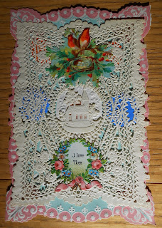 1880s valentine with excessive lacework