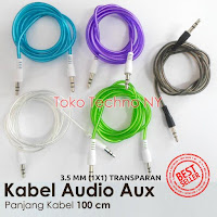 kabel audio aux 3.5 mm 1x1 transparan