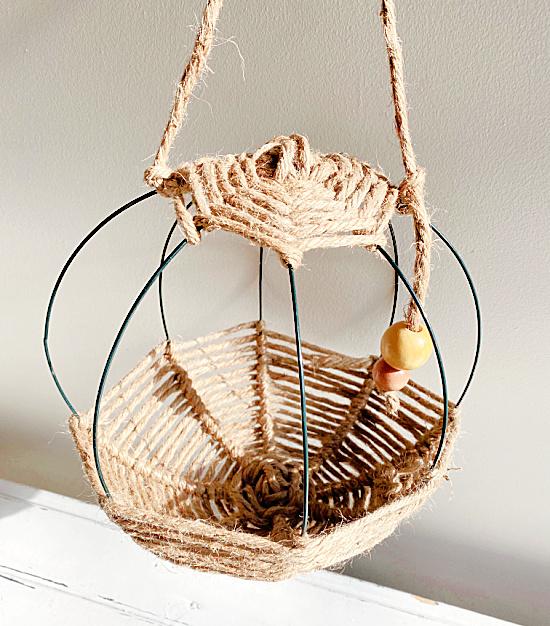 hanging twine basket