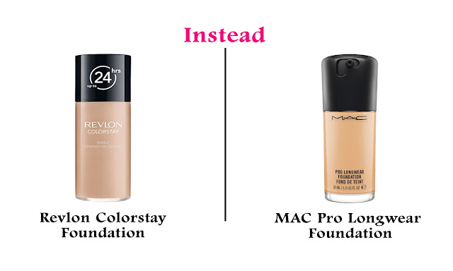 Best Affordable/Cheap/Budget Friendly Drugstore Alternatives to High End Makeup Products Revlon Colorstay Foundation