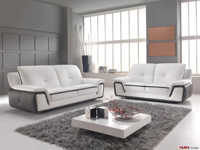 Arredamento Perfetto consiglia i divani artigianali in pelle bicolore