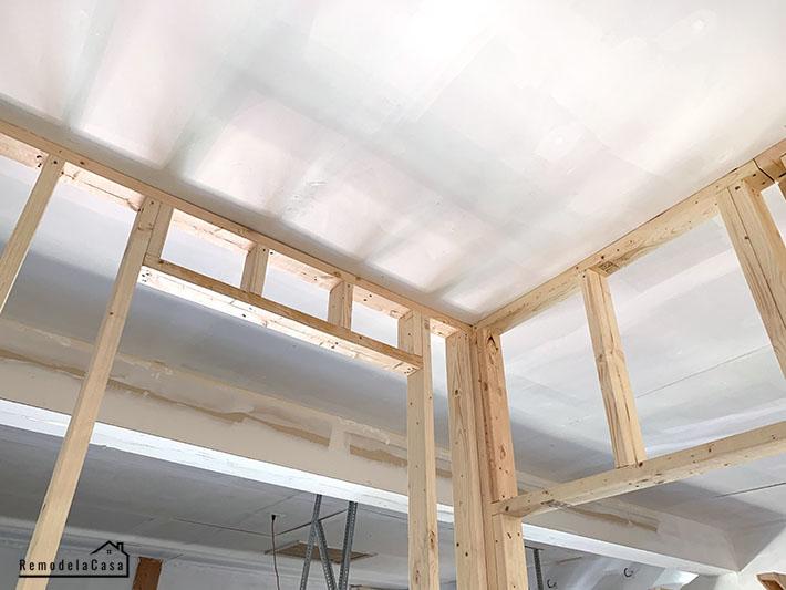 garage room framed