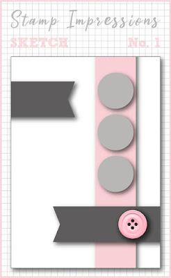 Stamp Impressions Blog Hop: Sketch No. 1: Geburtstagskarte mit selbst geschöpftem Papier und Bonanza Buddies