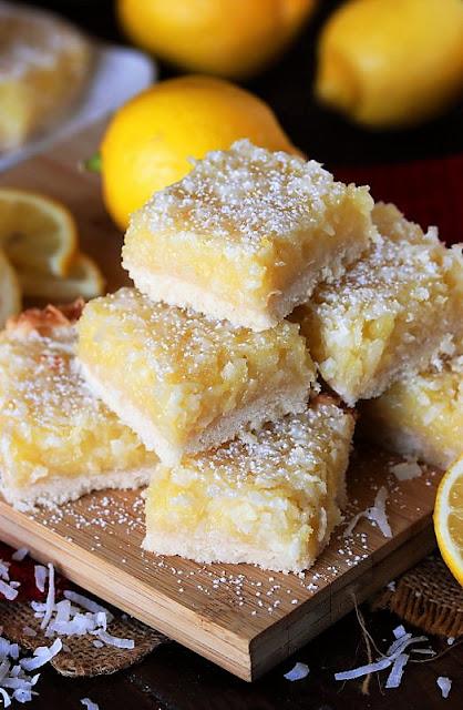Stack of Lemon-Coconut Bars Image