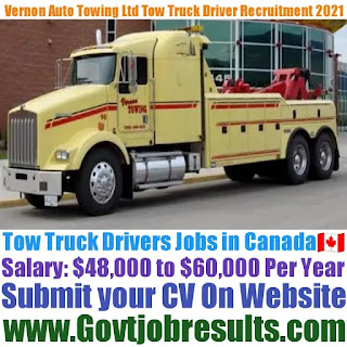 Vernon Auto Towing Ltd Tow Truck Driver Recruitment 2021-22