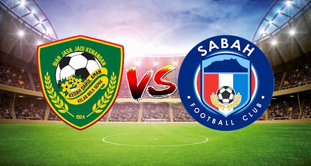 Live Streaming Kedah Darul Aman FC vs Sabah FC 9.3.2021 Liga Super