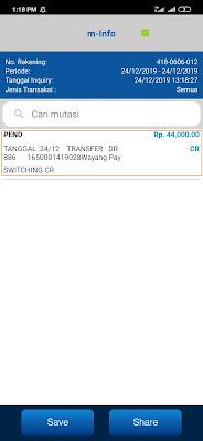 Bukti Pembayaran dari Aplikasi News Cat via Mbanking BCA