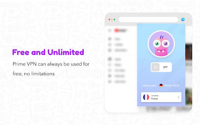 اضافة في بي ان متصفح جوجل كروم Free VPN - Unlimited VPN Proxy