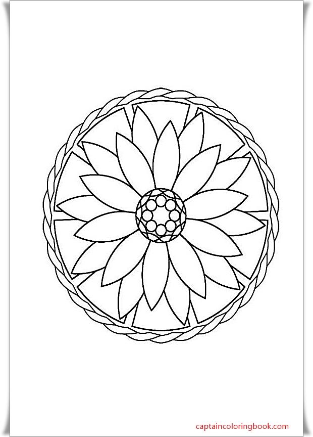 Einfache Mandalas Malvorlagen - Free Mandala