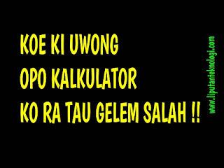 Gambar Status WA Sindir Teman Bahasa Jawa
