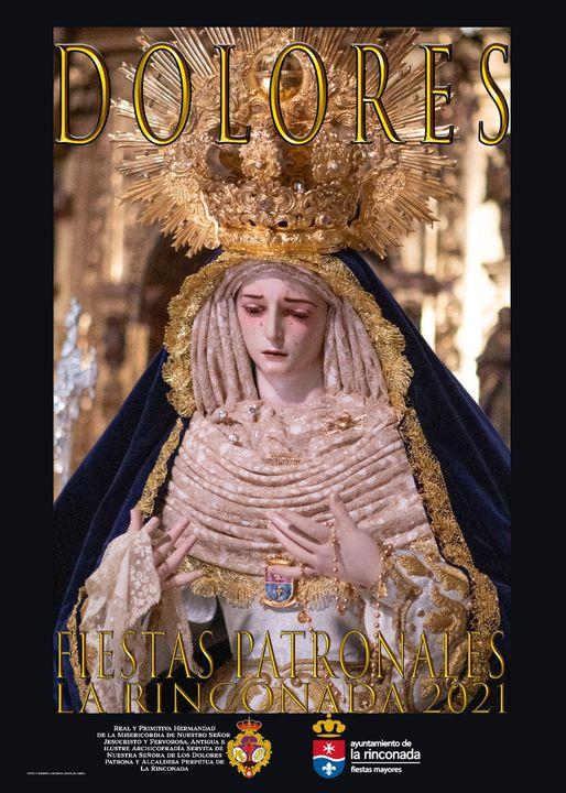 Cartel de las fiestas patronales en honor a Ntra. Sra. de Los Dolores de 2021 de La rinconada