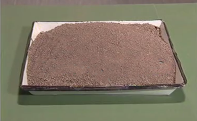 Sand sample used in Sieve analysis of fine aggregates