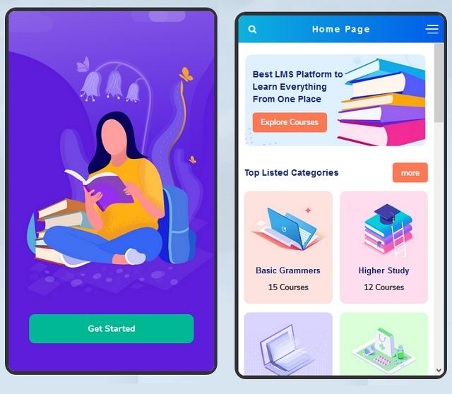 Education App & Online Courses Mobile Template