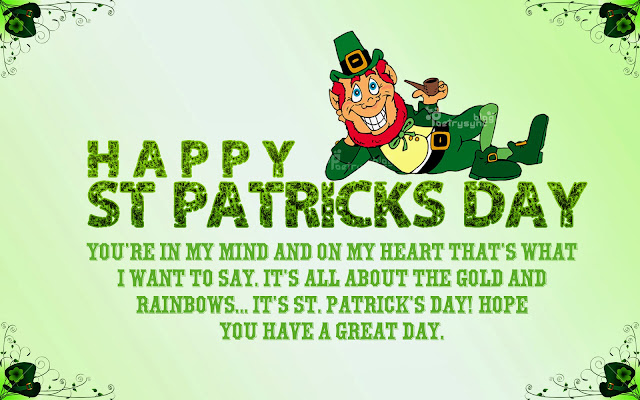 st patrick day 2017 messages wishes greetings sms sayings