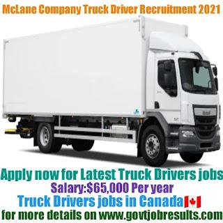 McLane Company Truck Driver Recruitment 2021-22