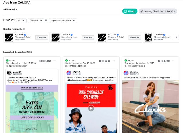 how to get zalora promo code 2021 using facebook ad library