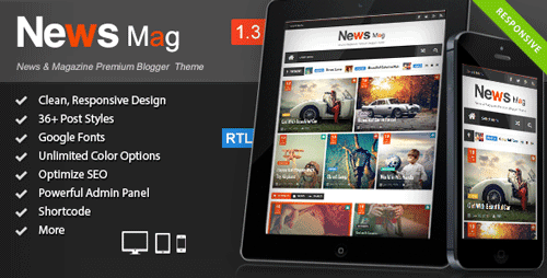 Responsive Magazine Blogger Template  News Mag