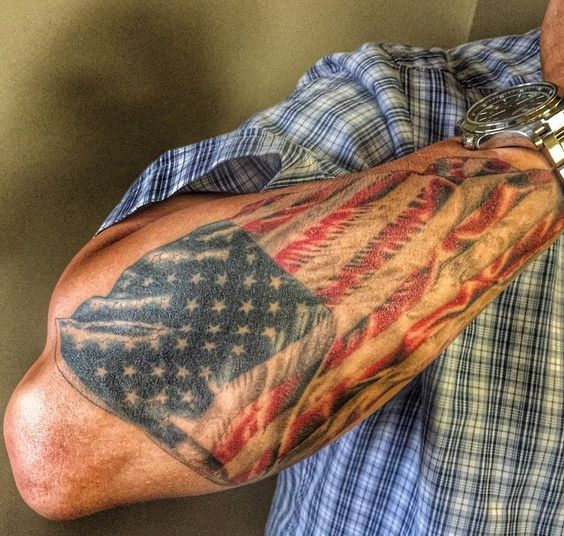Mysterious American Flag Tattoos