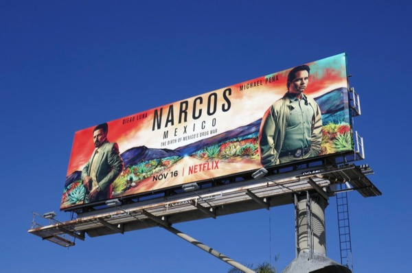Narcos Mexico series launch billboard