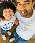 sachin baby with her son