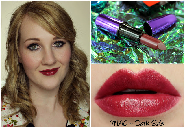 MAC Dark Side lipstick swatch