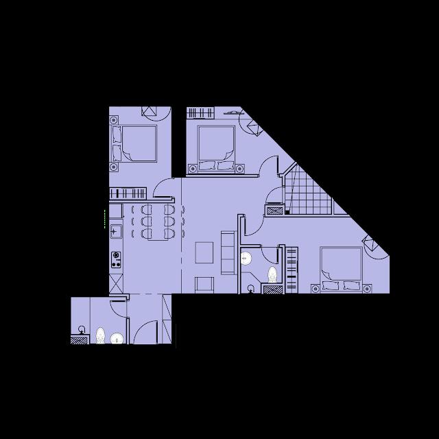 Thiết kế căn hộ B3 - 81,9m2 tòa River1 EuroWindow River Park