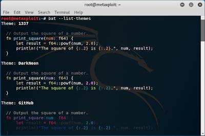 Bat – Cat Clone dengan Syntax Highlighting