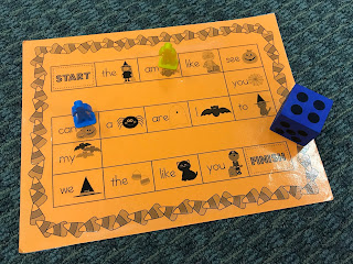 Halloween Sight Word Game Board
