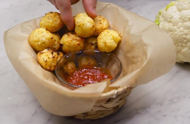 Cauliflower Tots #healthysnack #lowcarb