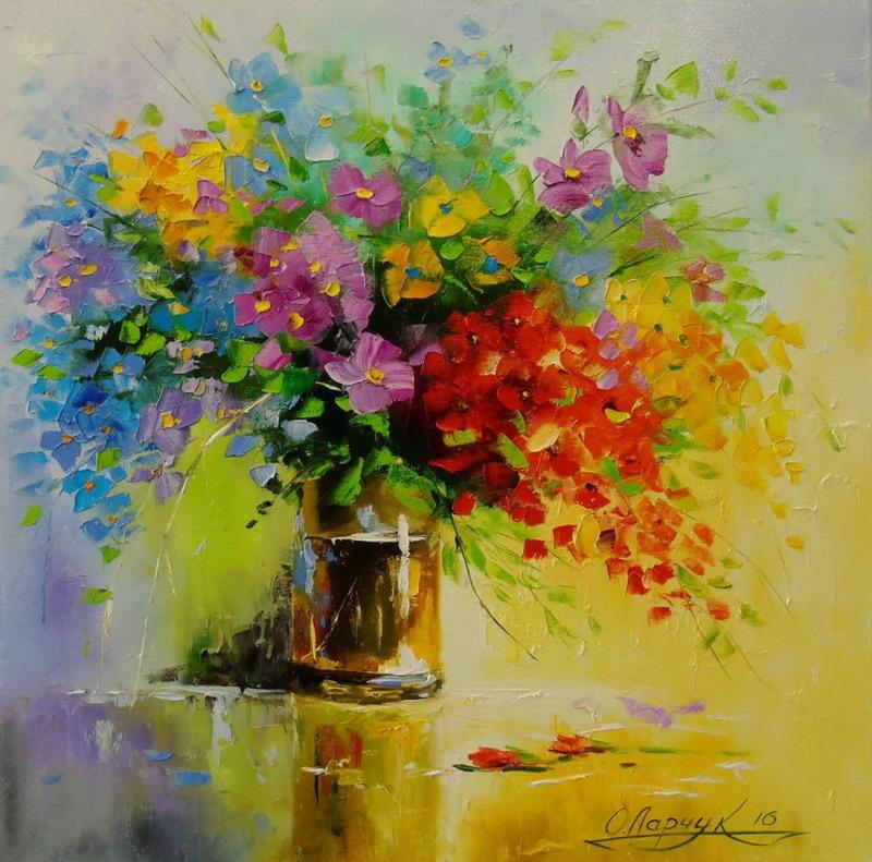 Cuadros modernos impresionismo magn ficos jarrones con flores - Fotos jarrones con flores ...