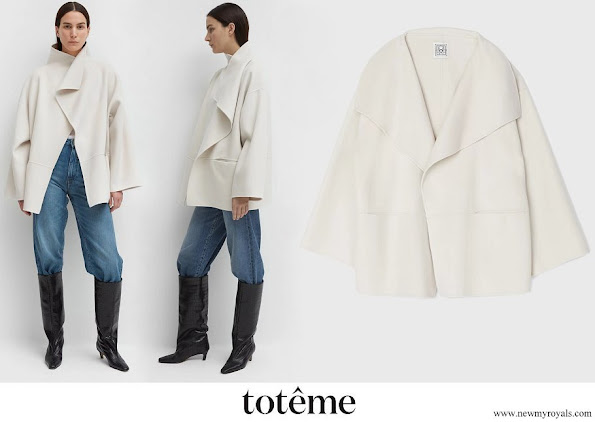 Crown Princess Victoria wore Toteme Annecy wool and cashmere-blend jacket