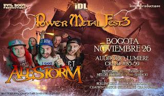 POWER METAL FEST 3 Concierto de ALESTORM en Bogotá