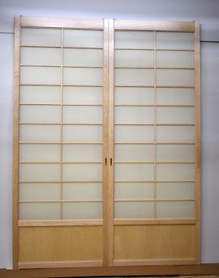 Maple closet shoji screens