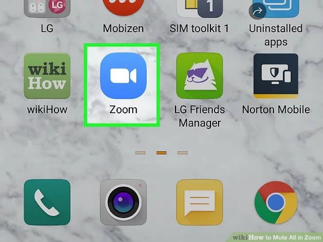 صورة عنوانها Mute All in Zoom Step 1
