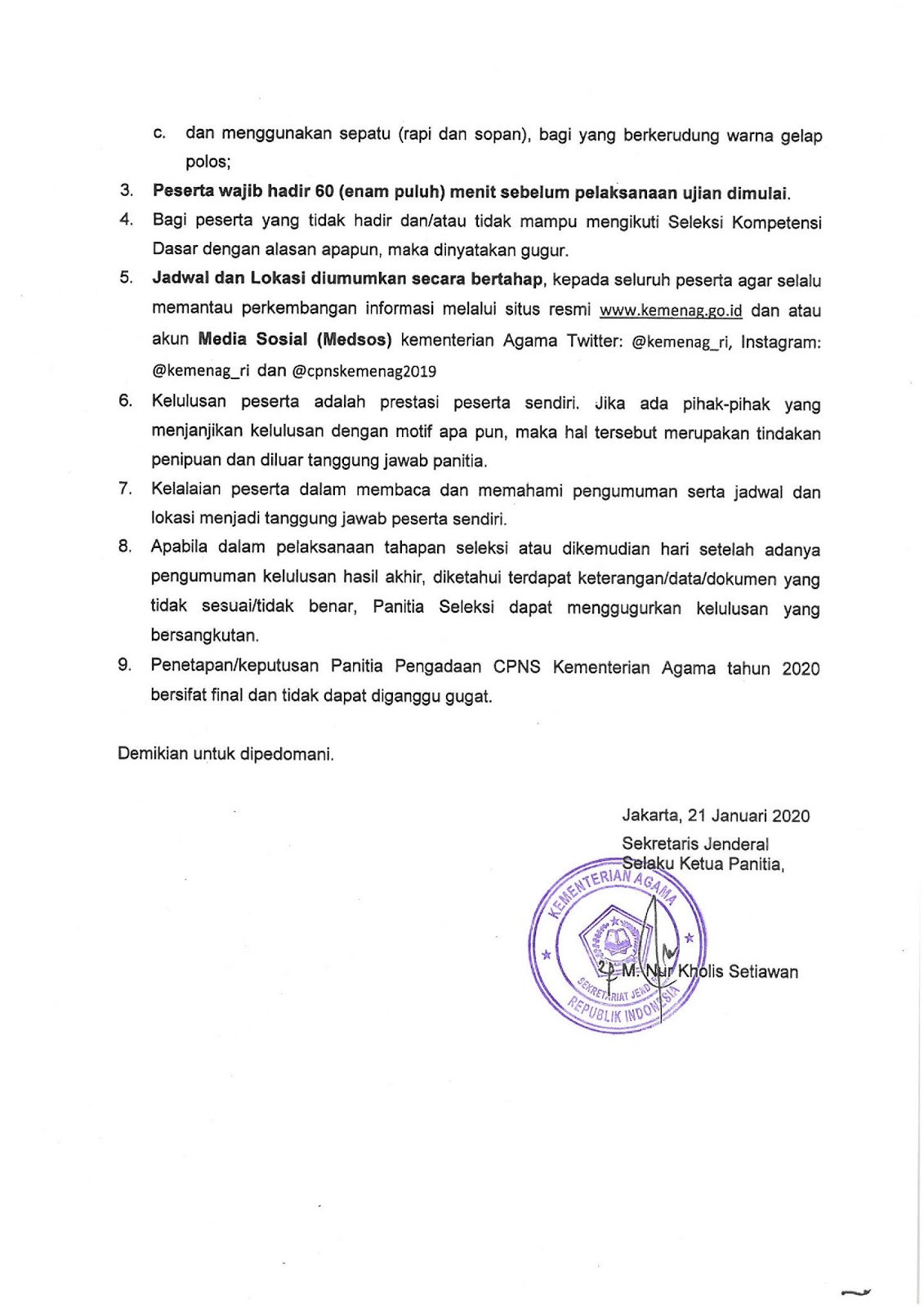 Jadwal Dan Lokasi Seleksi Skd Cpns Kementerian Agama Tahun Anggaran 2019 2020 Rekrutmen Lowongan Kerja Cpns Bumn Bulan Agustus 2021