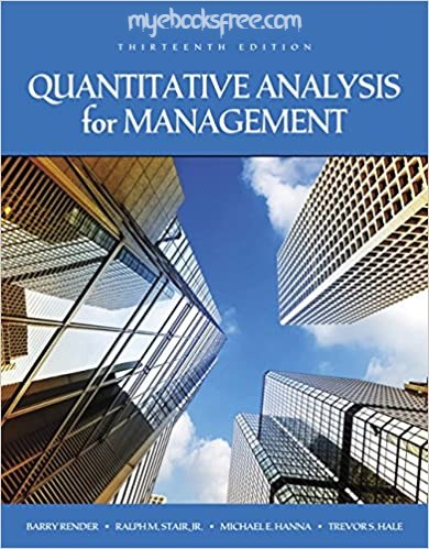 Quantitative Analysis for Management Pdf Book Download