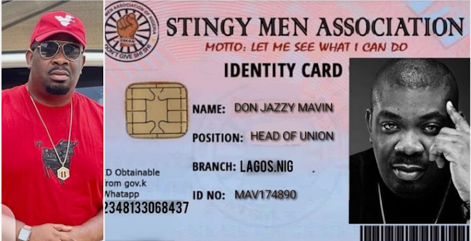 Nigerians react as Don Jazzy becomes president of stingy men in Nigeria (photo)