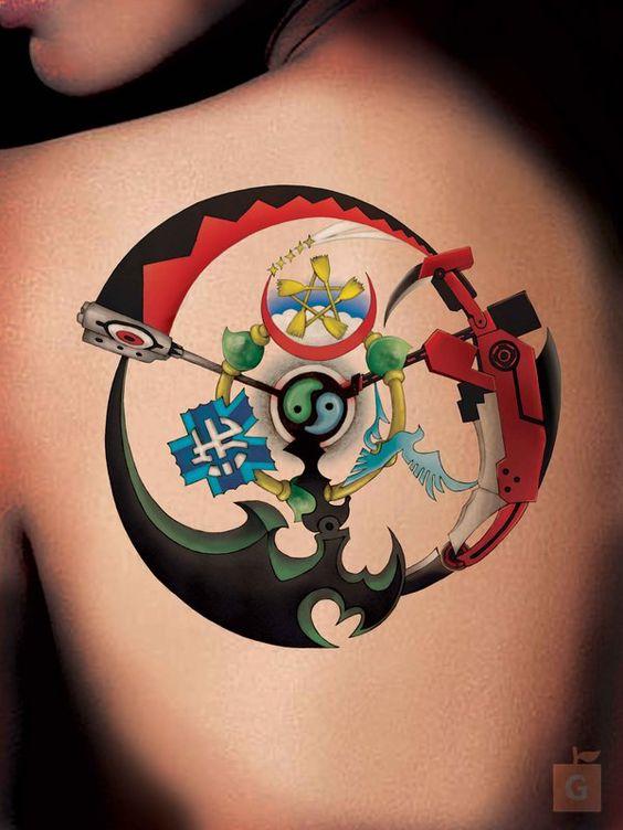 Unique Japanese Anime Tattoos