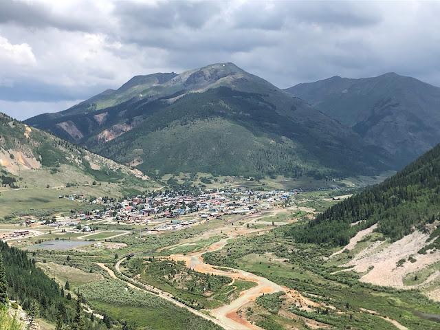 small mountain town in a valley